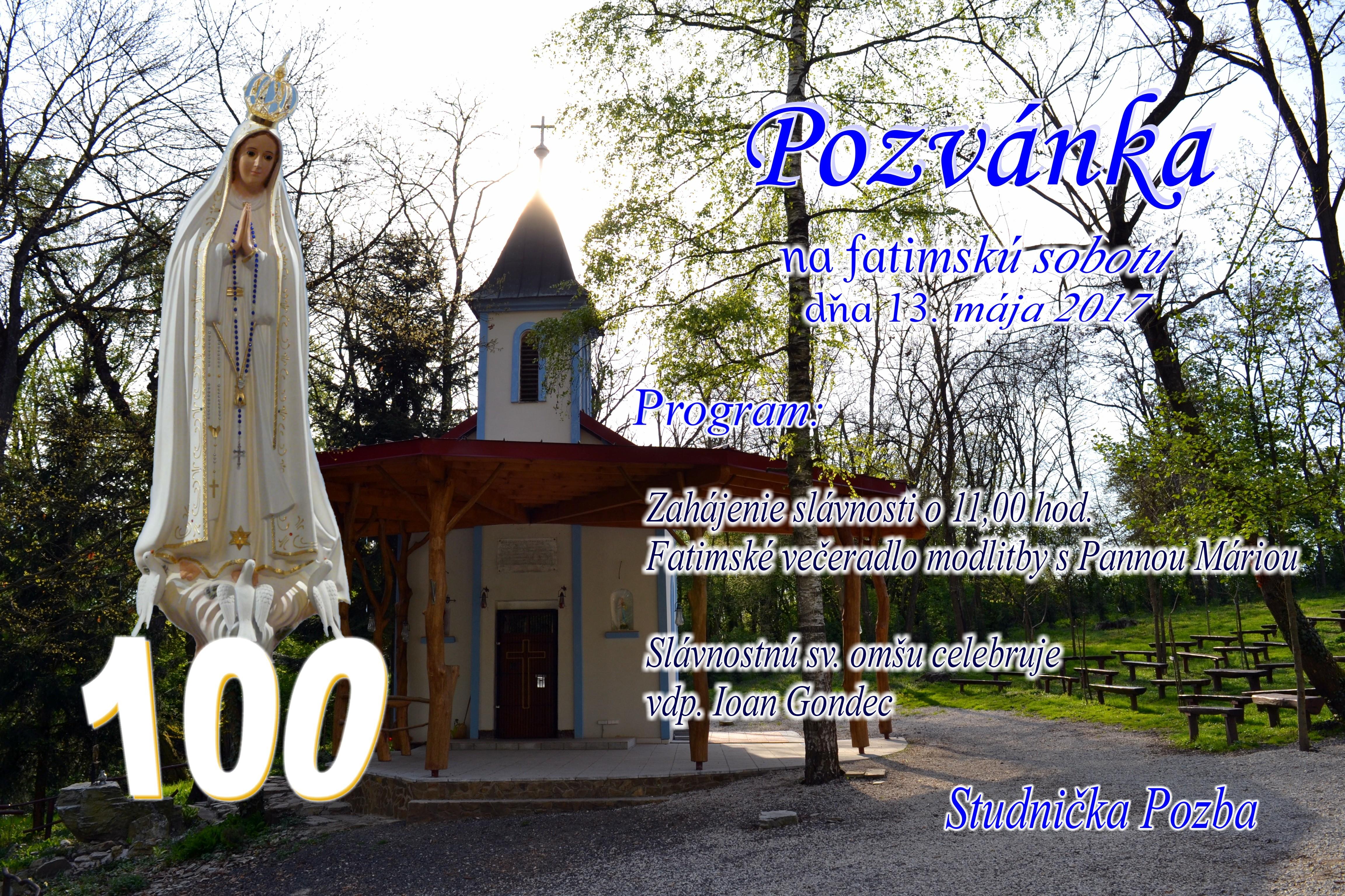 Večeradlo-sv.omša 13.5. Studnička